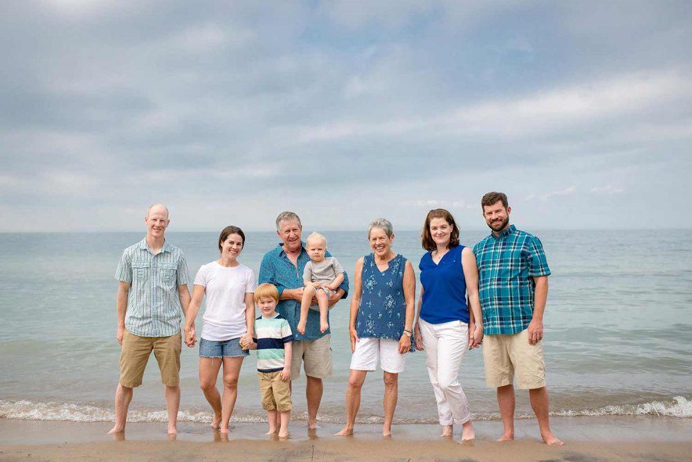 Family Photo at Wasaga Beach