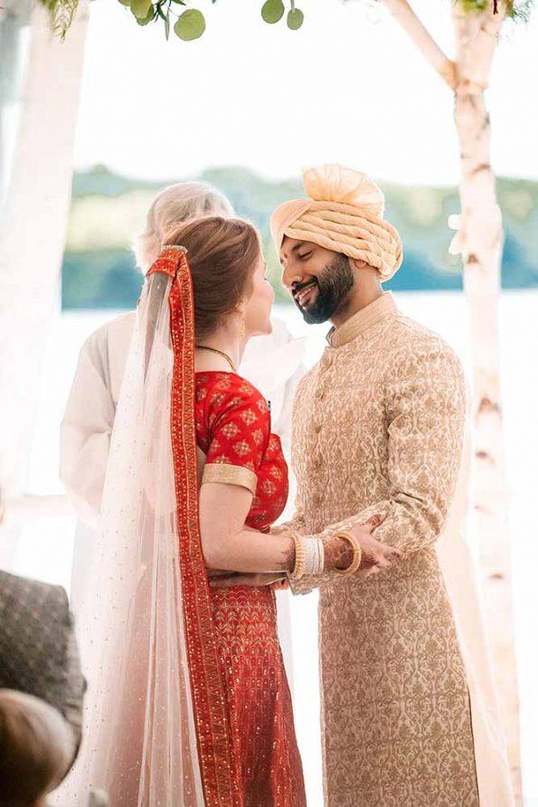 Hindu Wedding ceremony photo of couple in Muskoka