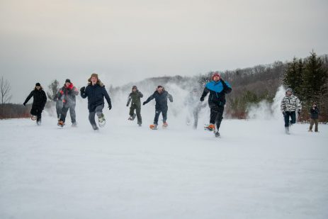 Team Building with snowshoes at Blue Mountain Collingwood