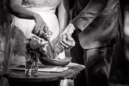 Wedding Sand Ceremony in Midland Ontario